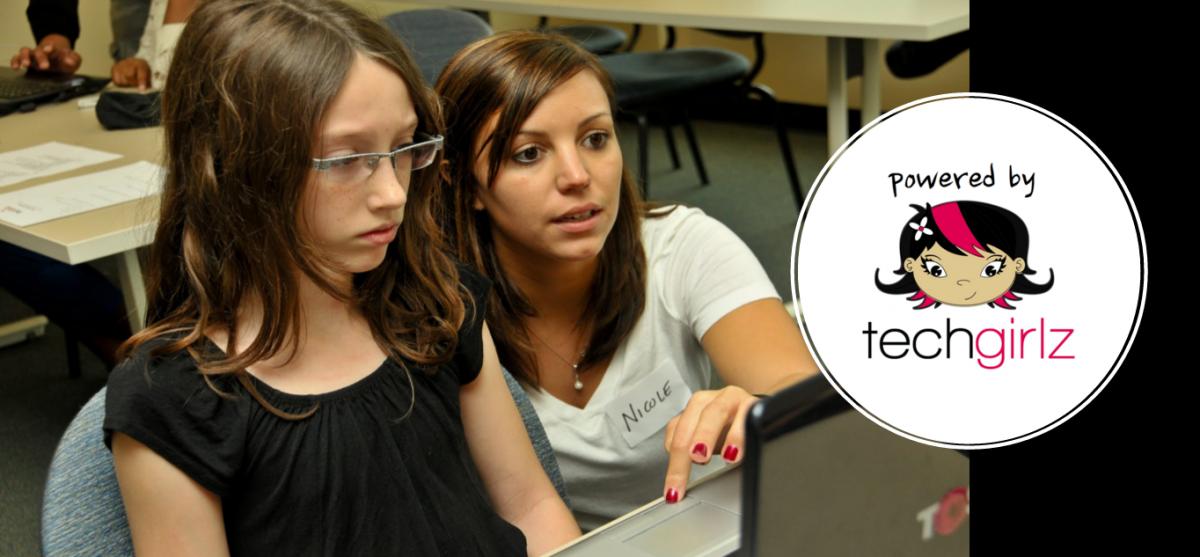 Parent & Daughter Teaming up for TechGirlz's Git/Github Workshop